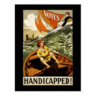 Handicapped Without the Vote Postcard