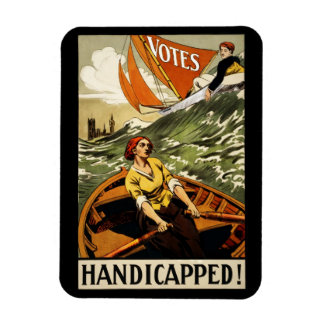 Handicapped Without the Vote Rectangular Photo Magnet