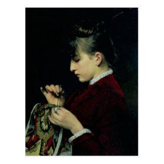 Handicraft, 1887 postcard