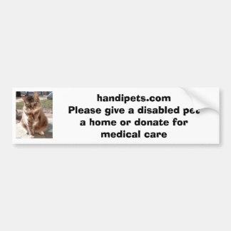Handipets website bumper sticker