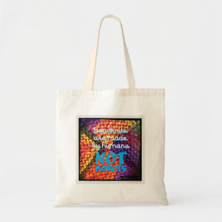 Handknits are Made by Humans NOT Robots Tote Bag