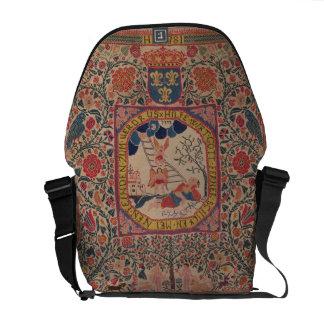 Handknitted carpet depicting Jacob's dream, Alsace Messenger Bag