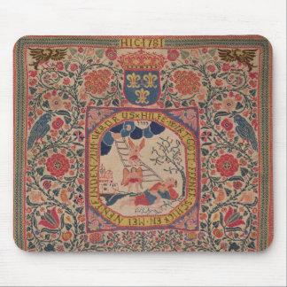 Handknitted carpet depicting Jacob's dream, Alsace Mousepads