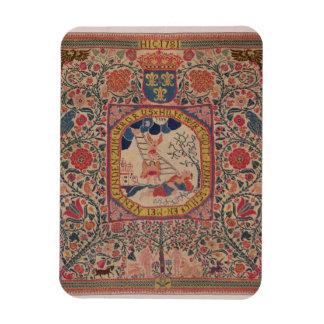 Handknitted carpet depicting Jacob's dream, Alsace Rectangular Photo Magnet