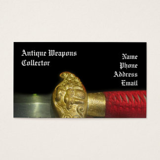 Handle and Hilt of a Decorated Sword Business Card