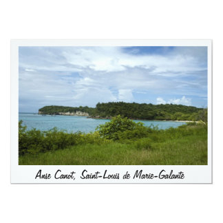 "Handle Boat, Saint-Louis of Marie-Gallant 5"" X 7"" Invitation Card"