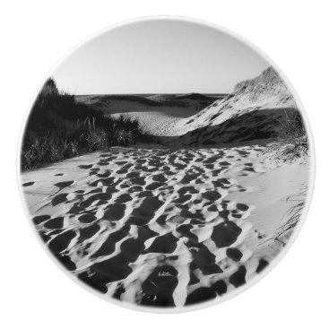 Beach Themed Handle of door, photograph of beach ceramic knob