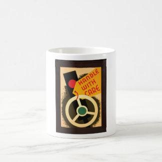 Handle With Care 1943 Art Coffee Mugs