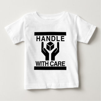 Handle With Care Basic Black Logo Baby T-Shirt