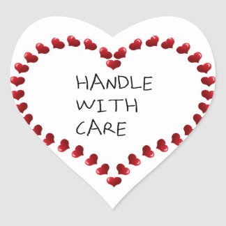 Handle with Care Heart Sticker