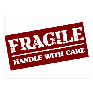 Handle with care postcard