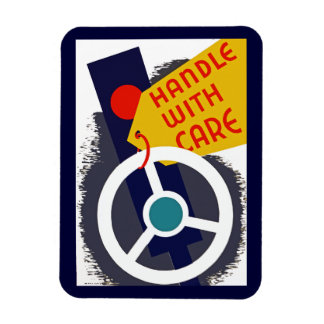 Handle With Care Rectangular Photo Magnet