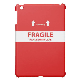 Handle with care - red cover for the iPad mini