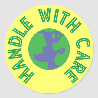 Handle With Care Round Sticker
