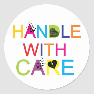 Handle with care! stickers