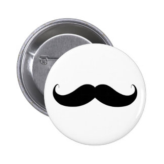 Handlebar Moustache / Mustache Pinback Button