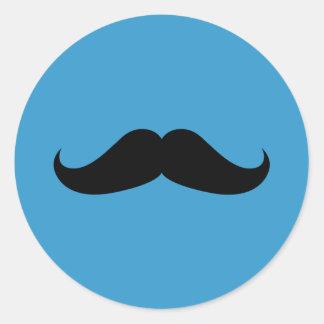 Handlebar Mustache Classic Round Sticker