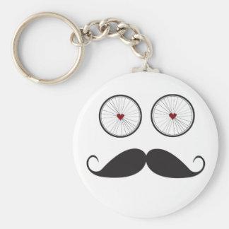 Handlebar Mustache Key Chain