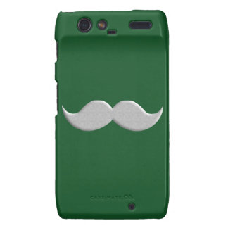 Handlebar Mustache Moustache on Green Background Droid RAZR Covers