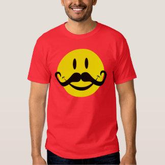 Handlebar Mustache Smiley T Shirt