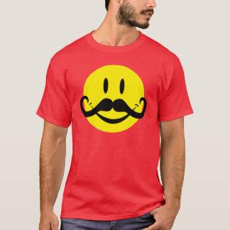 Handlebar Mustache Smiley T-Shirt