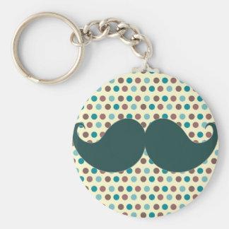 Handlebar Retro Mustache Moustache Stache Keychains