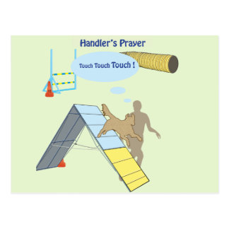 Handler's Prayer Touch Postcard