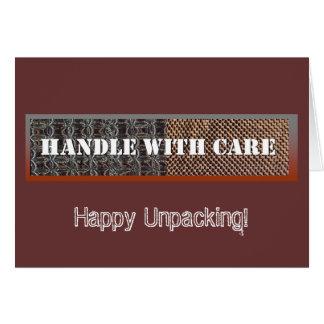 handleWcare, Happy Unpacking! Card
