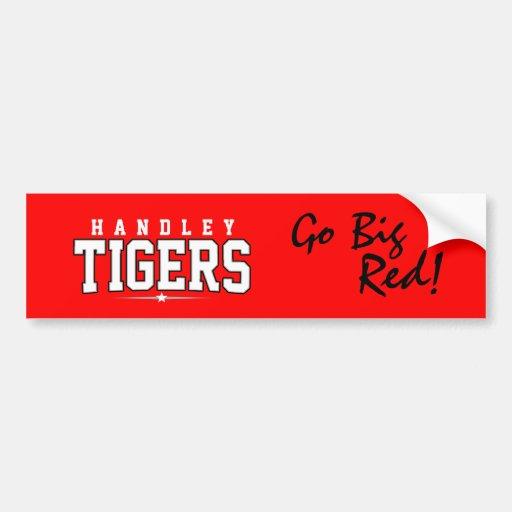 Handley High School; Tigers Car Bumper Sticker