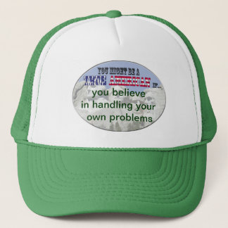 handling your own problems trucker hat