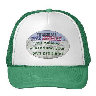 handling your own problems trucker hat