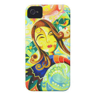 Handmade Abstract Painting of Cute Girl iPhone 4 Case-Mate Case