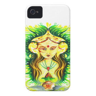 Handmade Abstract Painting of Lakshmi Durga iPhone 4 Case-Mate Case