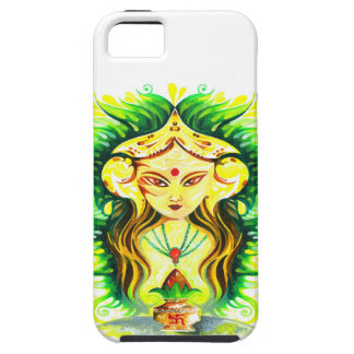 Handmade Abstract Painting of Lakshmi Durga iPhone SE/5/5s Case