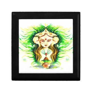 Handmade Abstract Painting of Lakshmi Durga Jewelry Box