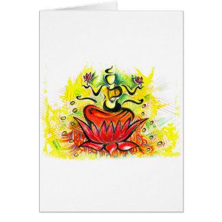 Handmade Abstract Painting of Lakshmi Maa Card