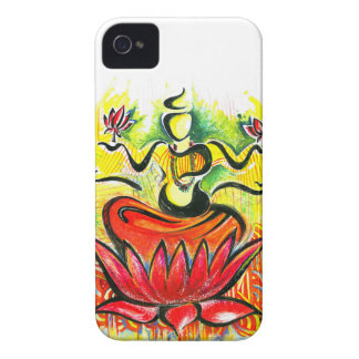 Handmade Abstract Painting of Lakshmi Maa iPhone 4 Case-Mate Case