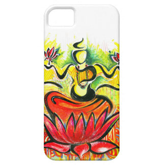 Handmade Abstract Painting of Lakshmi Maa iPhone SE/5/5s Case