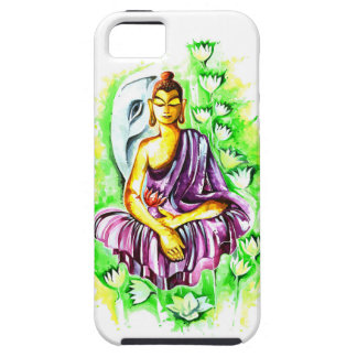 Handmade Abstract Painting of Lord Buddha iPhone 5 Cover