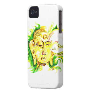 Handmade Abstract Painting of Lord Buddha iPhone 4 Case-Mate Case