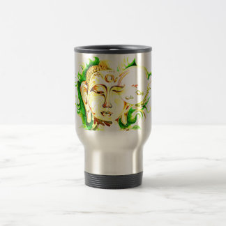 Handmade Abstract Painting of Lord Buddha Travel Mug