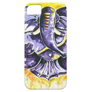 Handmade Abstract Painting of Lord Ganesha iPhone 5 Cases