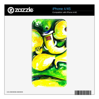 Handmade Abstract Painting of Lord Ganesha Decals For iPhone 4