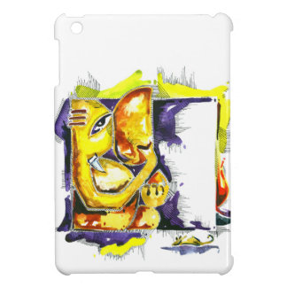 Handmade Abstract Painting of Lord Ganesha iPad Mini Case