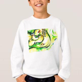 Handmade Abstract Painting of Lord Ganesha Sweatshirt