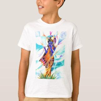 Handmade Abstract Painting of Lord Krishna T-Shirt