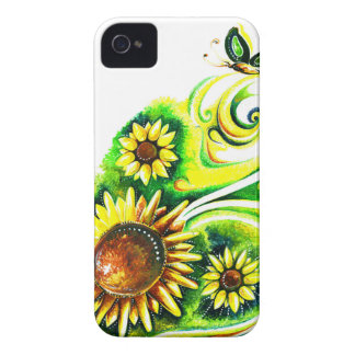 Handmade Abstract Painting of Sunflower Case-Mate iPhone 4 Case