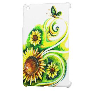 Handmade Abstract Painting of Sunflower iPad Mini Cover