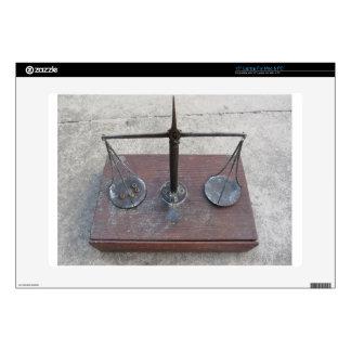 "Handmade balance scale 15"" laptop skin"