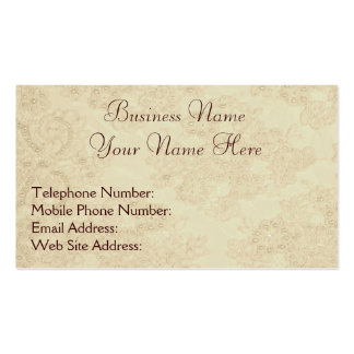 Handmade Beaded Lace-effect Business Cards